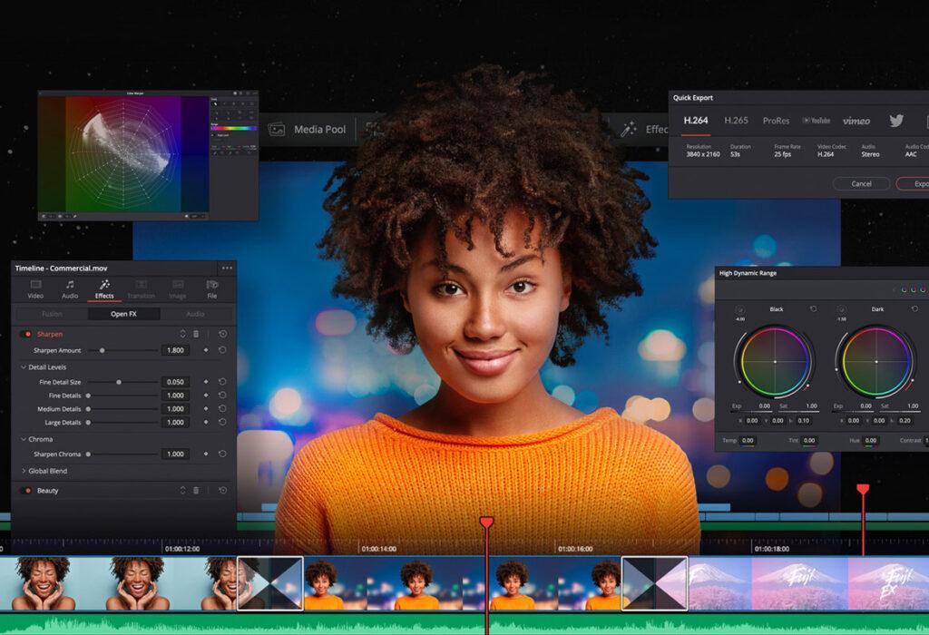 DaVinci resolve per editing video